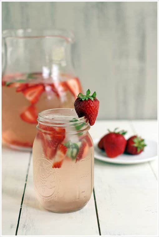 Strawberry-Basil-Water