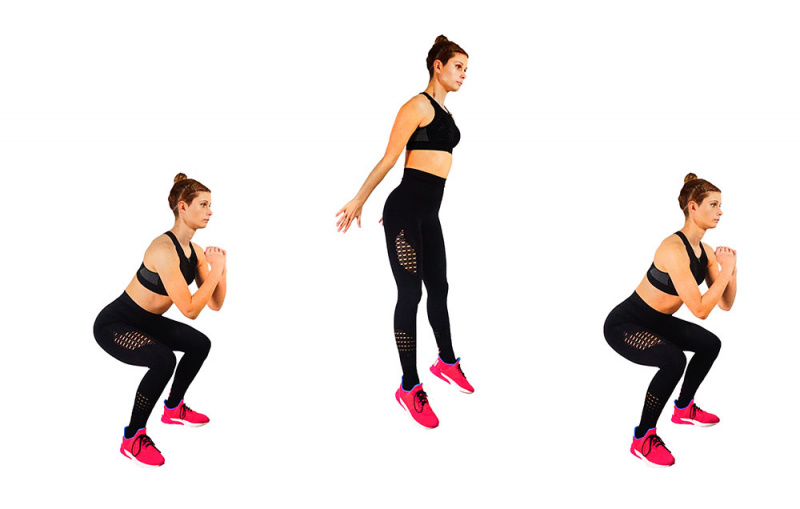 Jumping squat - How To front Squat