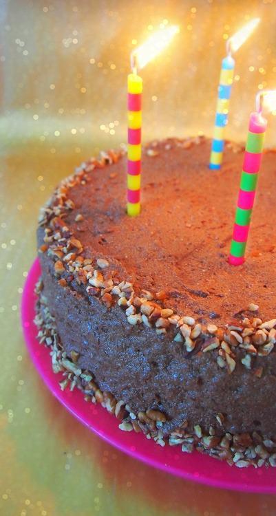 protein birthday cake