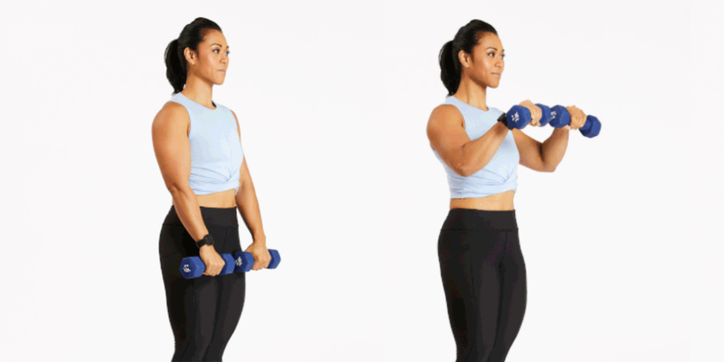 At Home Dumbbell Biceps Workout Best Biceps Workout With Dumbbells