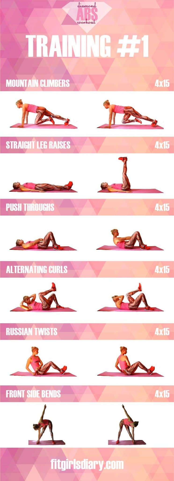 training #1 Diamond Abs Workout - The Best Ab Exercises for Women