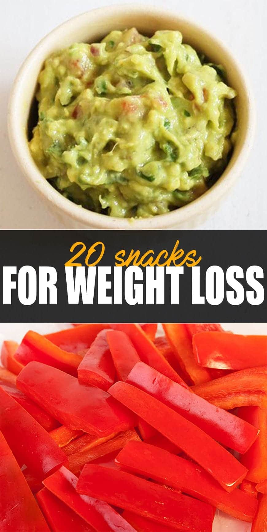20 Easy Healthy Snack Ideas - Guacamole with paprika sticks