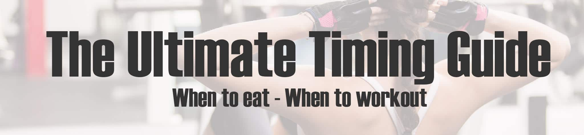 When to eat when to workout banner