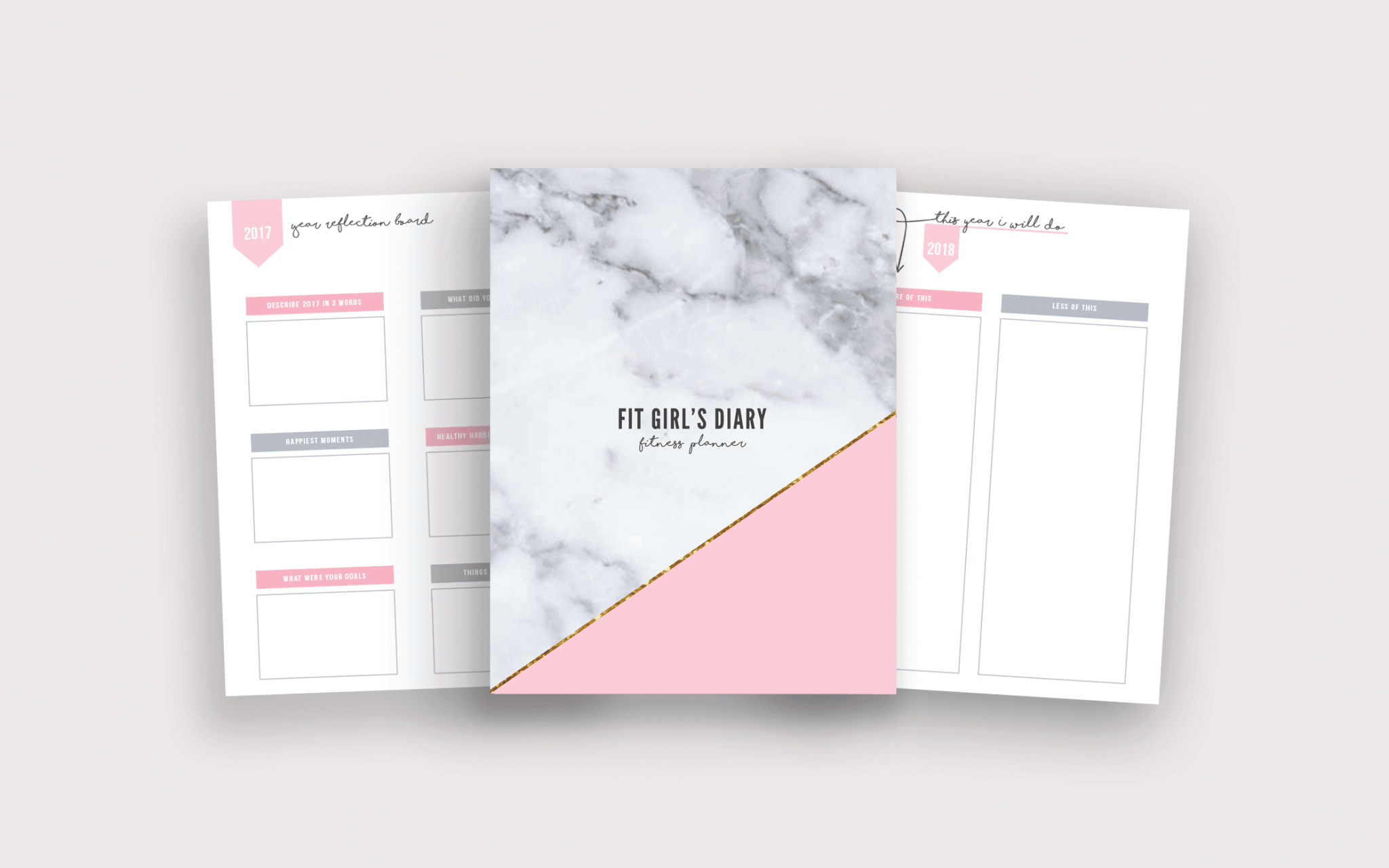 photograph about Fitness Planner Printable identified as 2018 Health Planner Printable Package - Your Planner In direction of