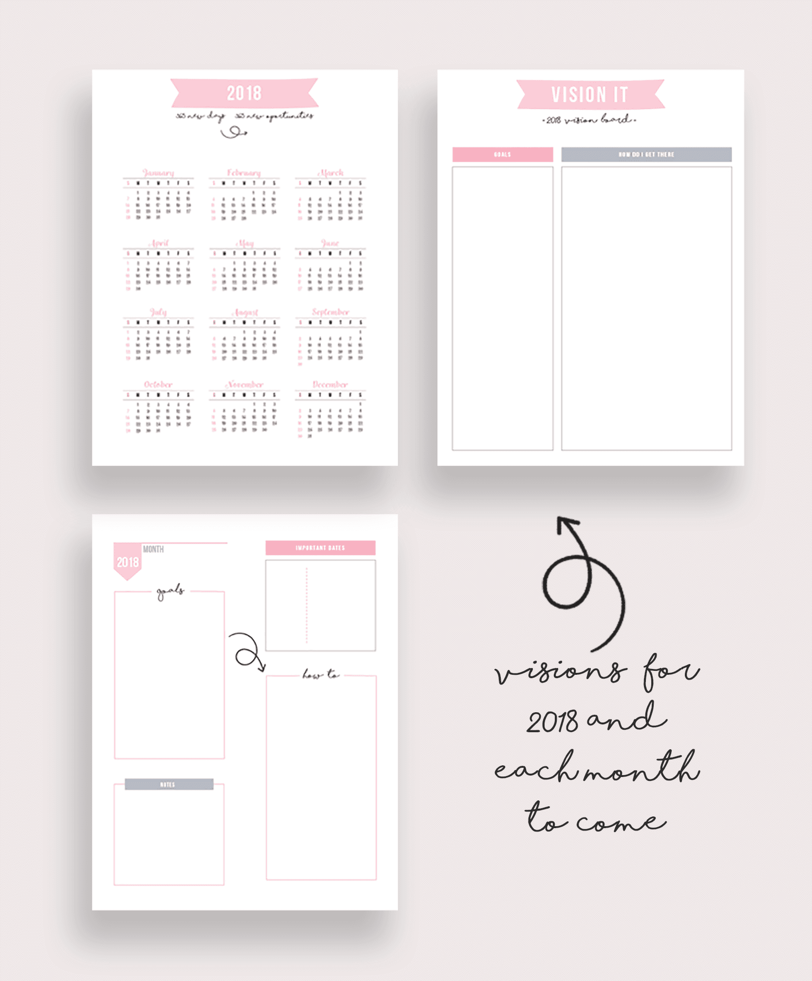 photo regarding Fitness Planner Printable titled 2018 Health and fitness Planner Printable Package - Your Planner In direction of
