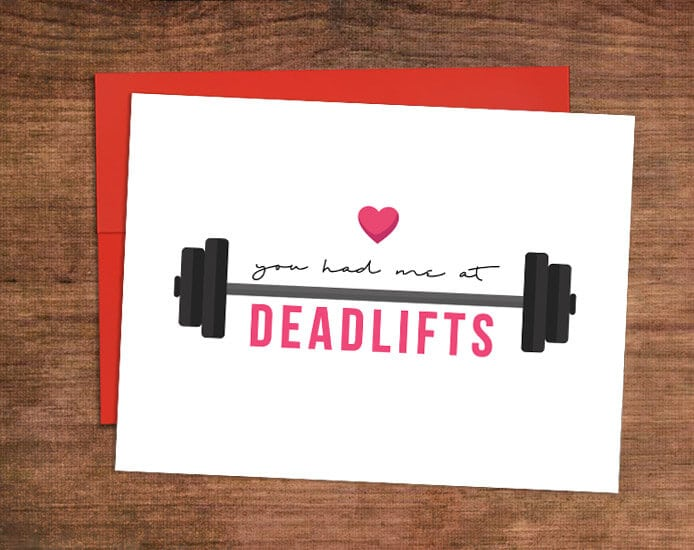 photograph regarding Printable Workout Cards titled Free of charge Physical fitness Valentines Working day Playing cards - 10 Printable Humorous