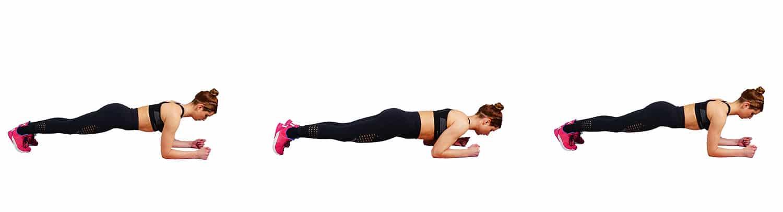 Plank Ups - underarm fat workout