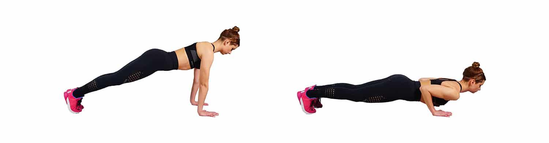 push ups - bra bulge exercise