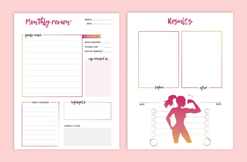 photo relating to Printable Fitness Journals referred to as Coming up with Received Me Healthy - In good shape Babe Printable Exercise Magazine