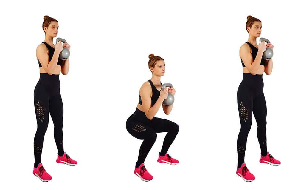 Goblet squats - Girl's Guide To Quad Workouts - 8 Best Quad Exercises & Leg Workouts At Home