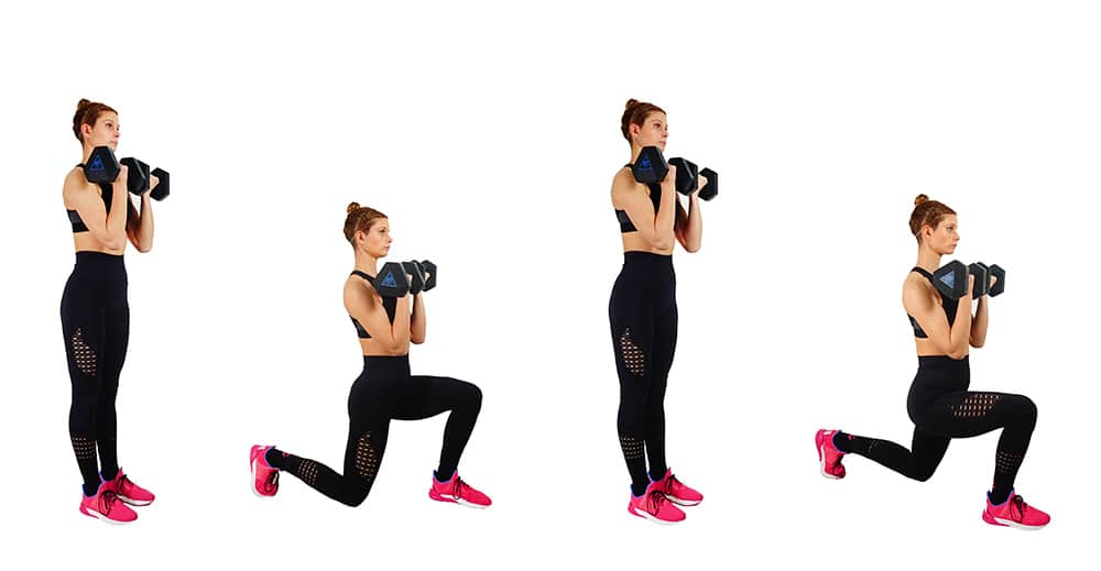 Alternating Lunges - Girl's Guide To Quad Workouts - 8 Best Quad Exercises & Leg Workouts At Home