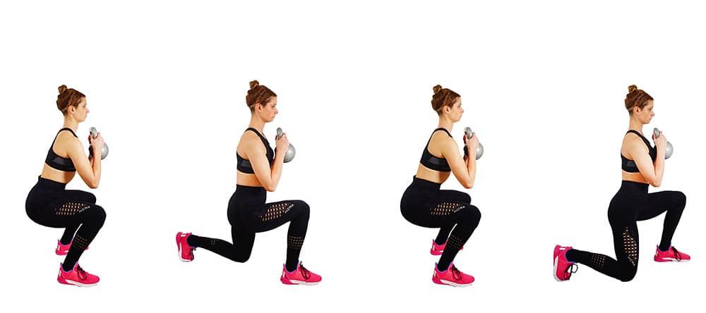 Squat Lunges - Leg workout routine