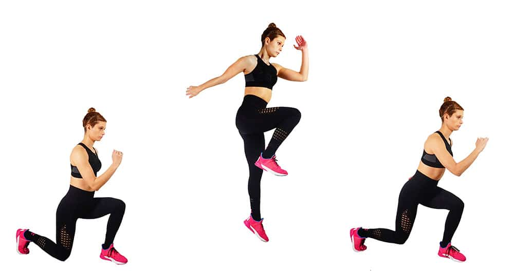 Girl's Guide To Quad Workouts - Running Lunge