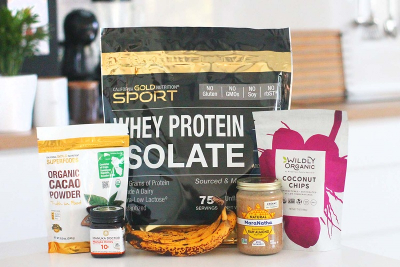 protein brownies recipe - ingredients for the recipe