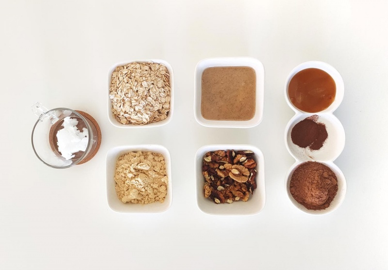 protein bar recipe - homemade protein bars - ingredients for the recipe