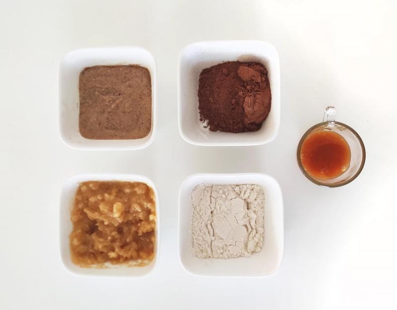 healthy homemade protein brownies - ingredients