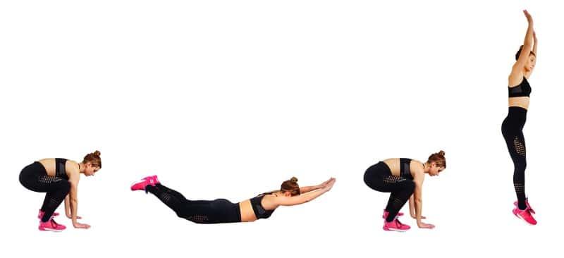 My Back Fat Workout - superhero burpee