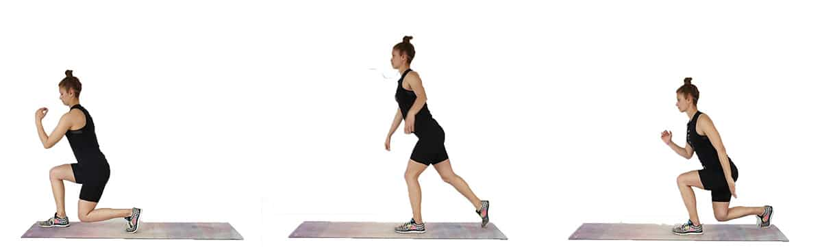 Seasaw lunge No Equipment 30 Minute Home Workout