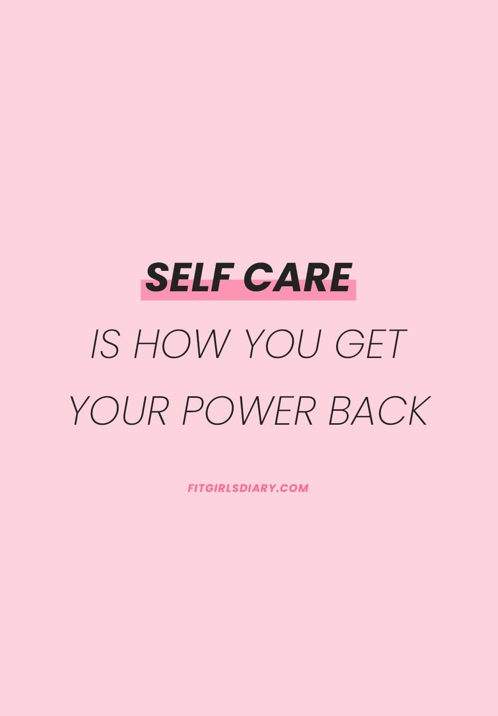 self care quotes - self care routine