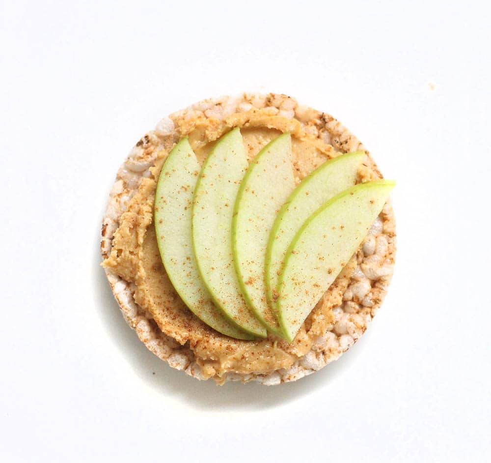 Peanut Butter + Green Apple + Cinnamon recipes with rice cakes