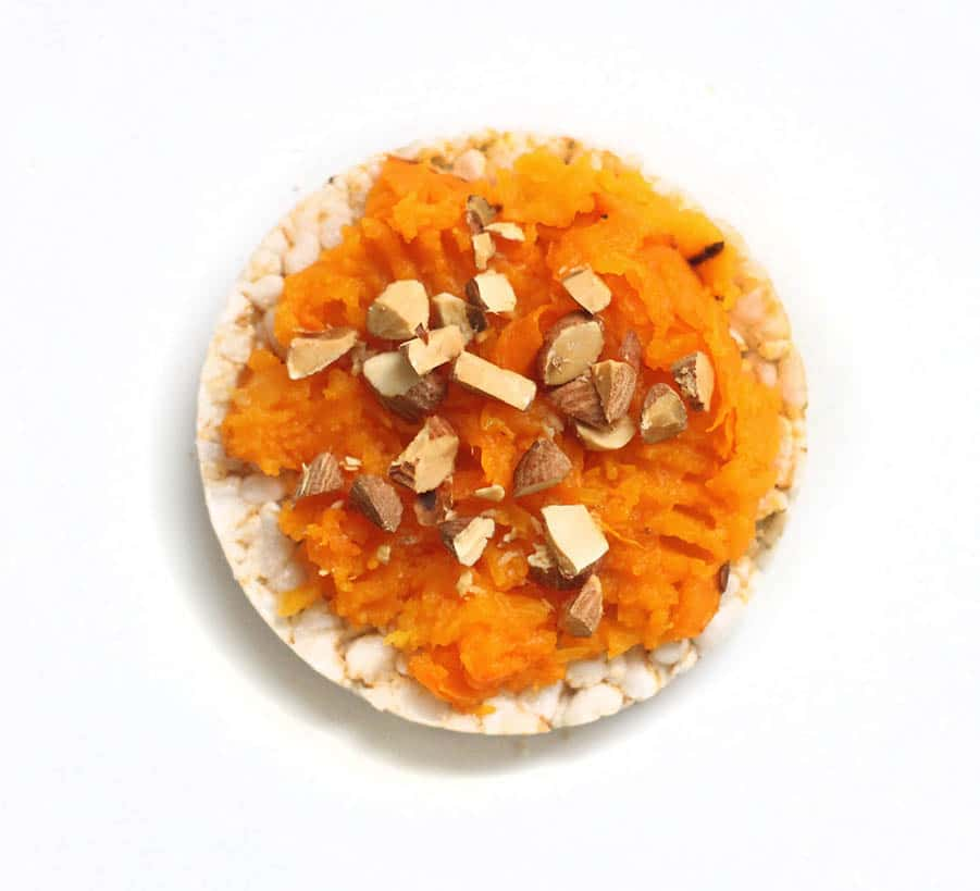 Pumpkin + Almonds Rice cakes