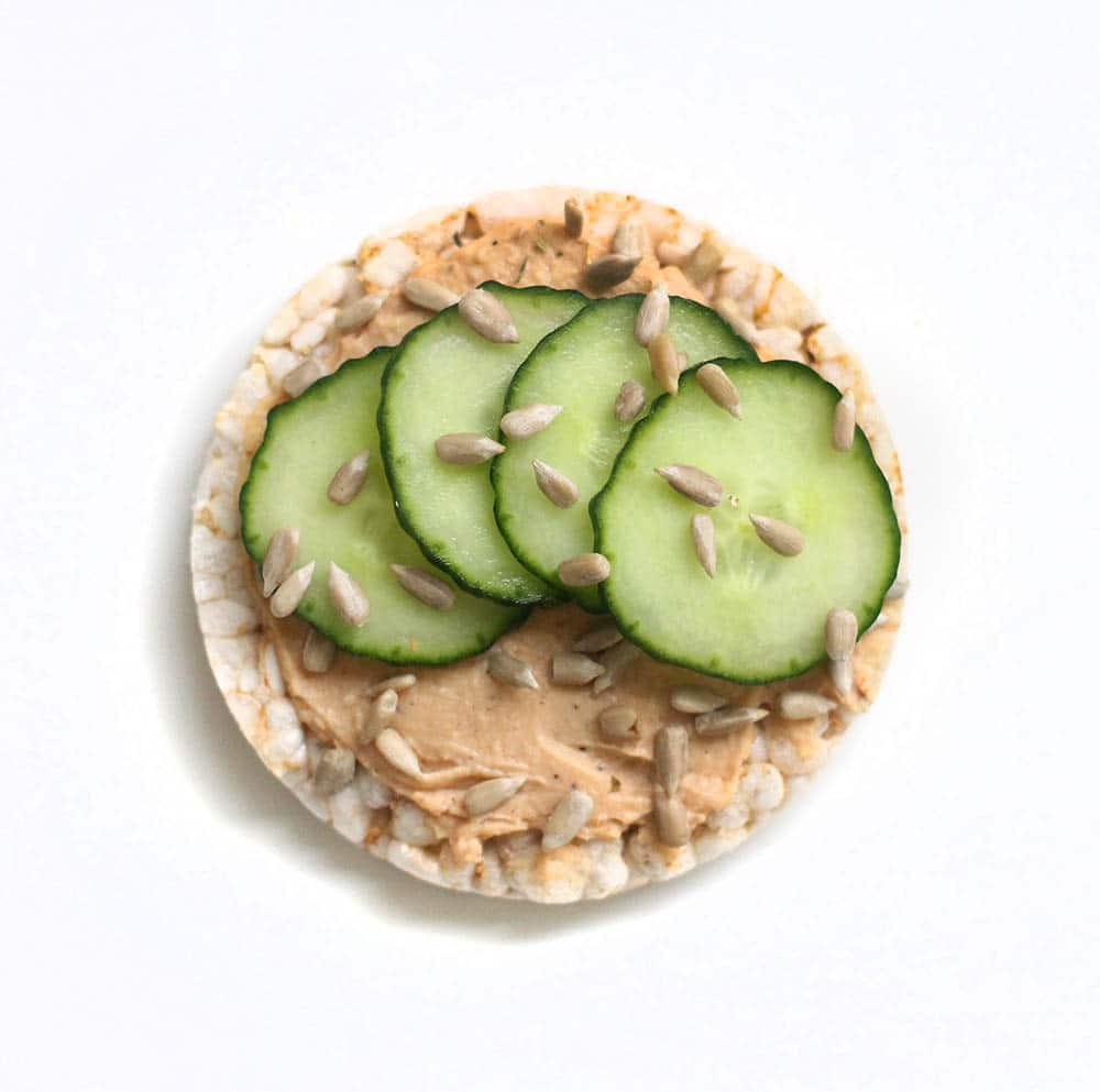 hummus cucumber rice cake recipe