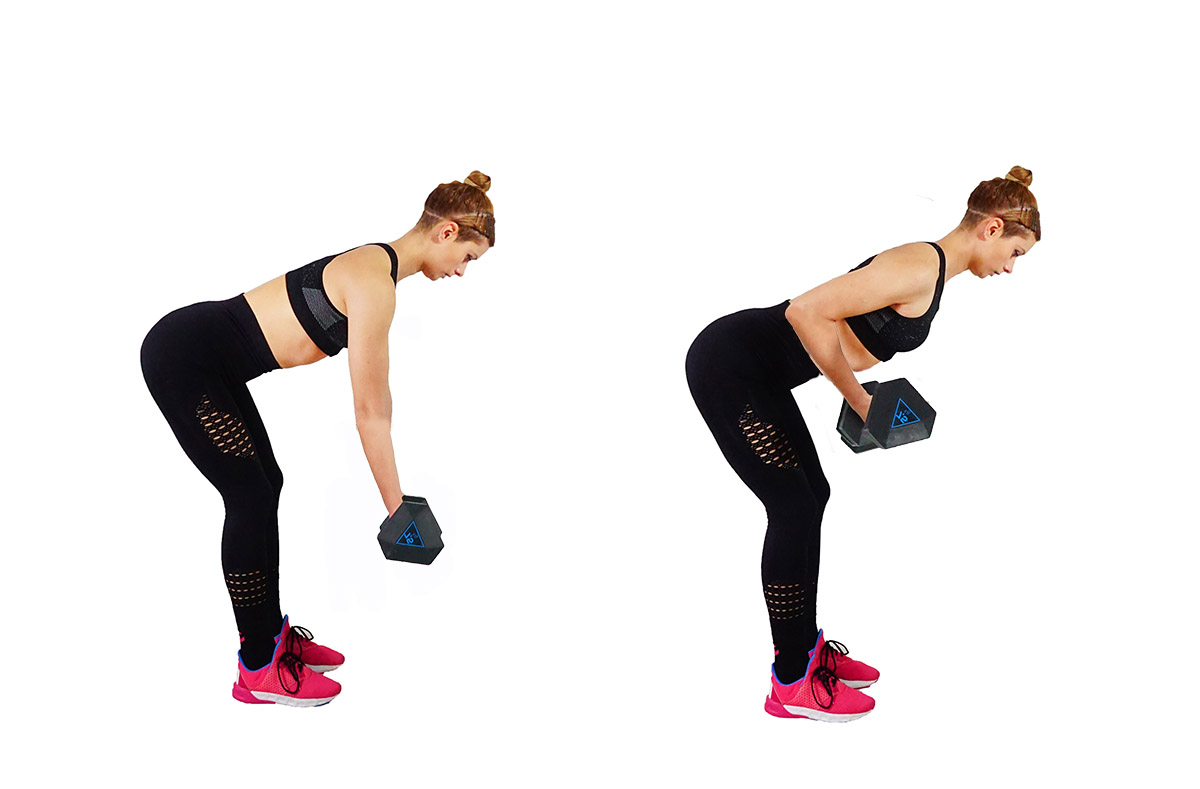 Bent over rows hands facing up