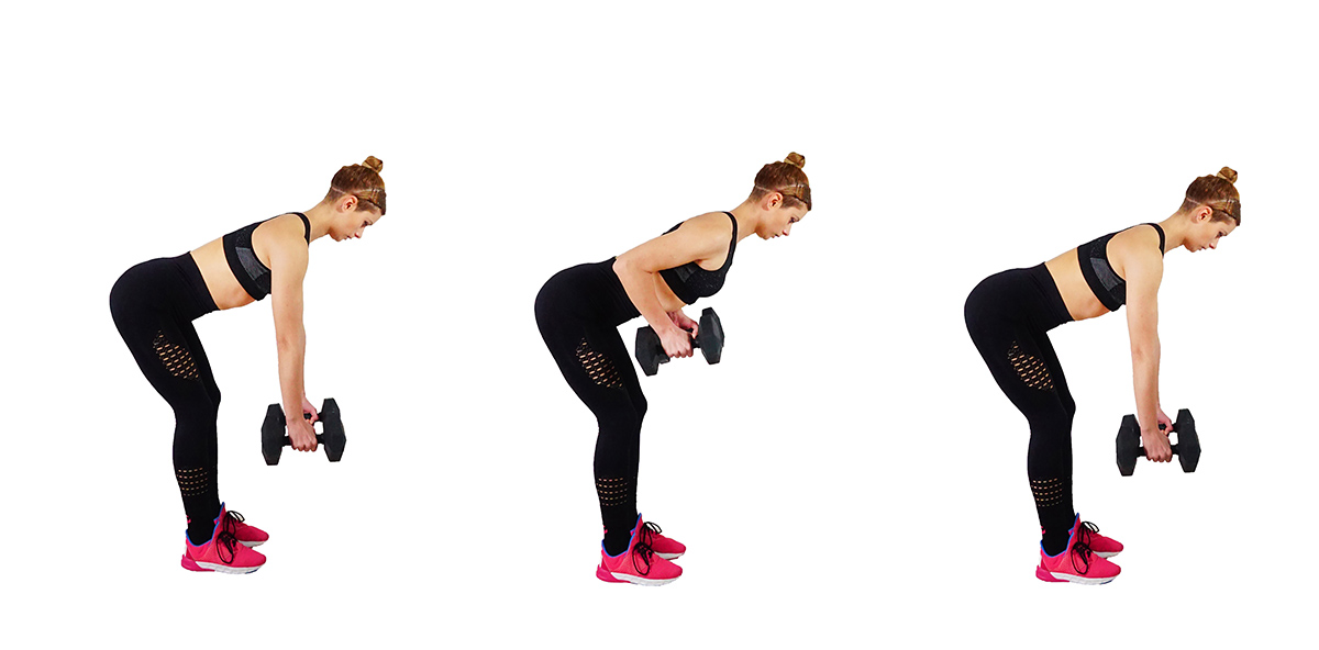 bent over rows - Best Back Workout At Home With Dumbbells